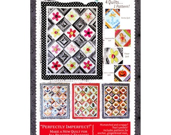 Pattern - Perfectly Imperfect! Quilt Paper Sewing Pattern / Instruction Booklet by KimberBell (KD140)