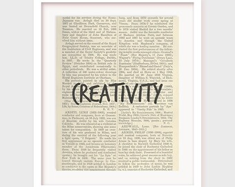 Creativity, Inspirational Print, Motivational Art, Office Decor, Virtues, Home Decor, Wall Art, Printable Poster, INSTANT DOWNLOAD