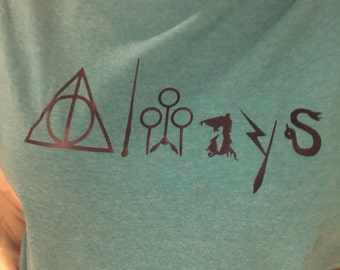 Harry Potter Always shirt-customizable by colors