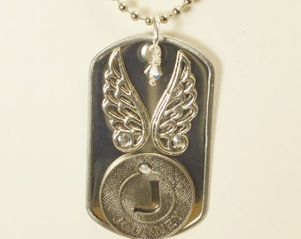 Journey Riveted Dog Tag Necklace