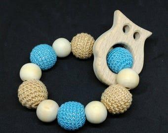 Montessori inspired teething beads rattle