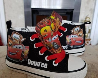 Custom Canvas Shoes Personalised Cars Lightening McQueen Sneakers Pumps High Tops