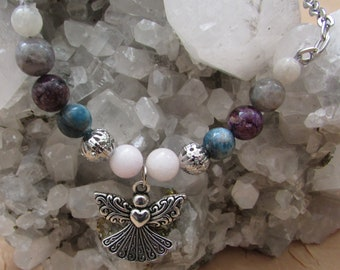 Gemstone Angel Jewelry - Intuitive Gifts Crystal Bead Necklace
