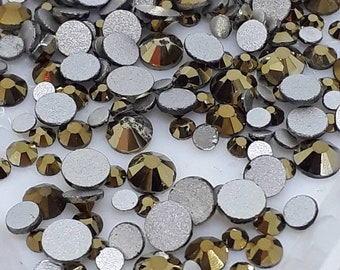 Gold Chrome Crystals - Glass - Gems