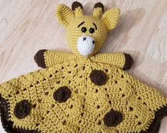 Adorable giraffe lovey, giraffe blanket, baby blanket