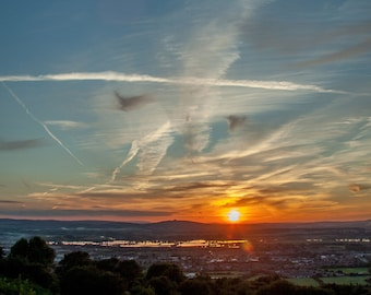 Sunset across the vale