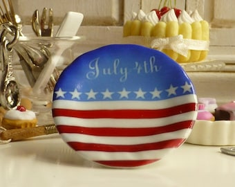 4th of July Patriotic-Independece Day Dollhouse Miniature Plate