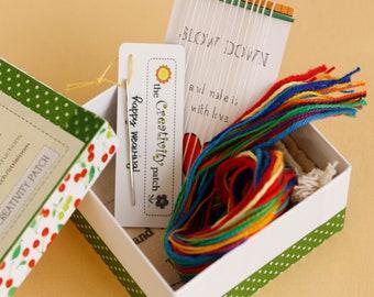 Tiny Little Weaving Loom Kit Rainbow Colors