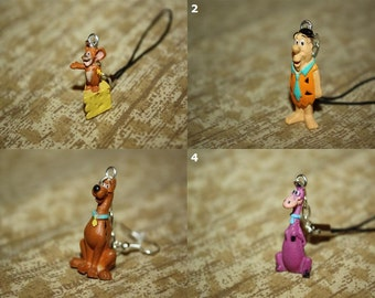 Classic Cartoons - Necklaces, Keychains, Cell Charms, Audio Jack Plugs, & Earrings