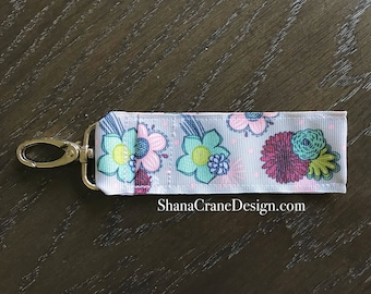 One Clip-On Lip Gloss Holder . Floral Sketch