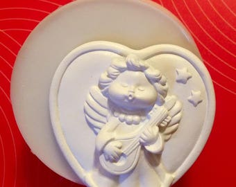 NON-Food Silicone mold heart Angel mandolin cm. 6