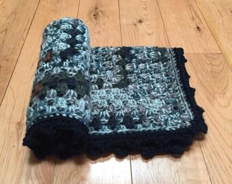 Crocheted Baby Blanket, Camo Baby Blanket, Baby Blanket, Boy Baby Blanket, Baby Shower Gift, Security Blanket, Lovey, Photo Prop