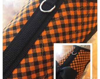 Warm  Check Small Dog Harness Made in USA, dog harness, dog harnesses