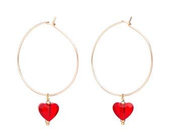 Earrings heart partnership Leopoldine Chateau x YAY!