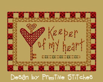 MACHINE EMBROIDERY-Keeper Of My Heart-Block-2-Colorwork-4X4-Instant Download