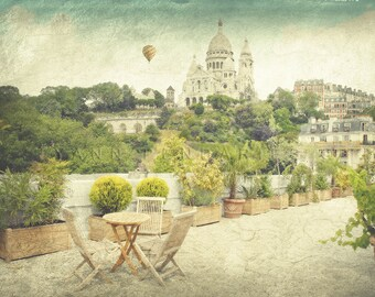 Paris photography, Montmartre, Basilique du Sacré Cœur, Paris decor, Paris scenery, Paris gardens