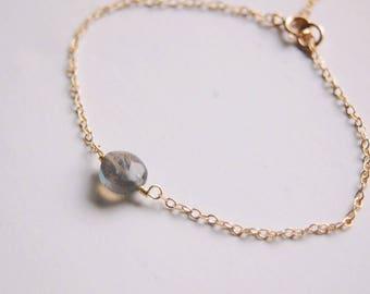 Tiny Labradorite Gold Fill Bracelet
