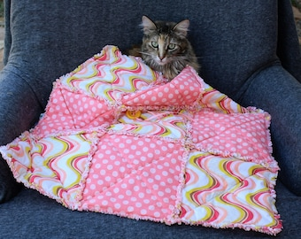 Cat Blanket, Pink Cat Bed, Pet Bedding, Pet Couch Cover, Pet Accessories, Pet Supplies, Small Dog Blanket, Pet Blanket, Washable Cat Blanket
