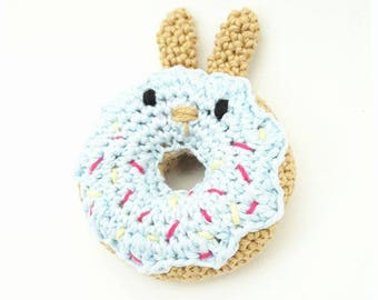 DONUT BUNNY Crochetpattern, Donut, Bunny, Crochet, Tutorial, PDF, Direct Download, Kids Decor, Kidsroom, Gift,Craft, Babyshower, Babytoy