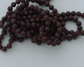 10 jade 8mm Brown Coconut beads