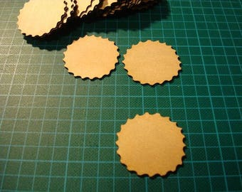 Engraved round ba021 embellishment wooden creations