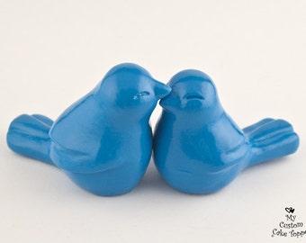 Bird Cake Topper - Love Birds Wedding Elegant - Pick Your Color