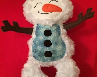 Plush snowman
