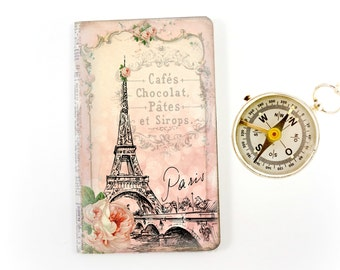 Paris Journal, Cottage Chic Notebook, Eiffel Tower Diary