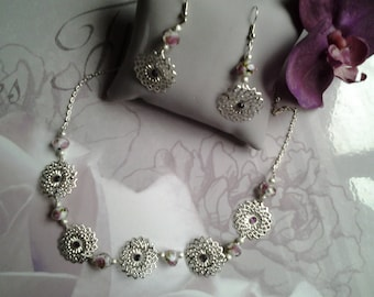 adornment necklace and studs