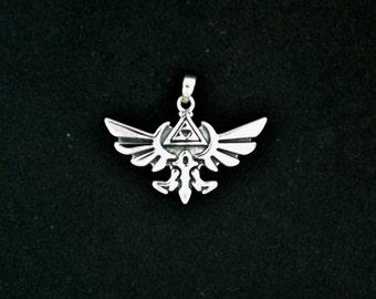 Legend of Zelda Pendant in Sterling Silver
