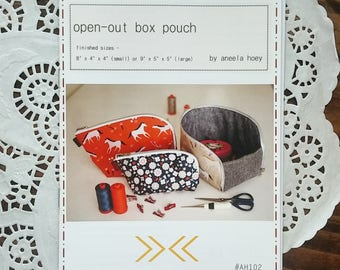 Open-Out Box Pouch Pattern by Aneela Hoey
