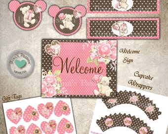 Teddy Bear Party Package Printable - Instant Download - Teddy Bear Party Decor