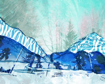 Blue Mountain Collage - 2 sizes available