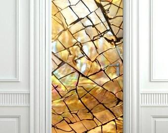 Abstract Door Sticker, Wood Door Wallpaper, Door Mural, Door Sticker, Door Sticker Decor, Bedroom Living Room Home Decor, Wall Decor Mural