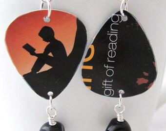 Reader Earrings Reading Earrings Amazon Earrings Book Earrings Guitar Pick Earrings Gift Idea for Readers Gift Idea for Book Lovers