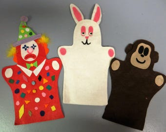 7 hand puppets