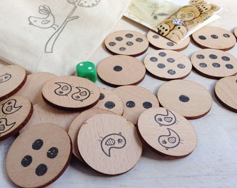 Bird In The Hand Wooden Dice Game