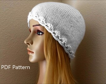"""How To Knit A """"Flowers In A Row"""" Hat, PDF File"""