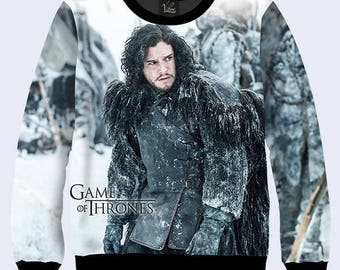 2017 Game of Thrones Jon Snow House Winterfell Winter Coming King in the north Song of Ice and Fire 3D  Pullover Sweater Sweatshirt new
