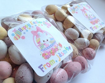 Easter Gift labels, Personalised easter stickers, Happy Easter Stickers, Happy Easter Labels, Easter stickers, Easter favour labels 249