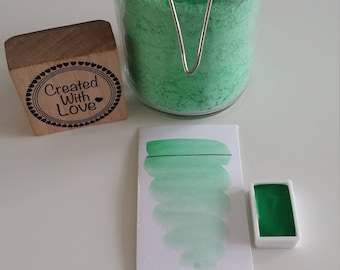 Full pan Chalk green handmade watercolor