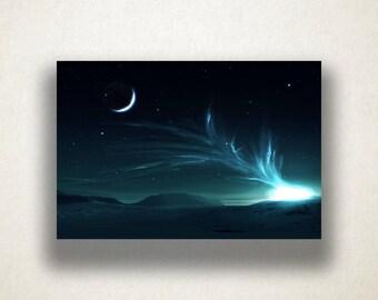 Northern Lights Canvas Art, Nature Scene Wall Art, Aurora Borealis Canvas Print, Artwork, Photograph, Canvas Print, Home Art, Wall Art