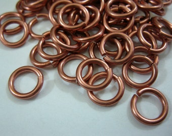 14 Gauge 9mm SOLID COPPER Jump Rings, Bright or Hand Oxidized,  pack of 10 or more, Great Quality