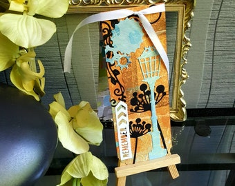 Customizable magnetic bookmarks: steampunk