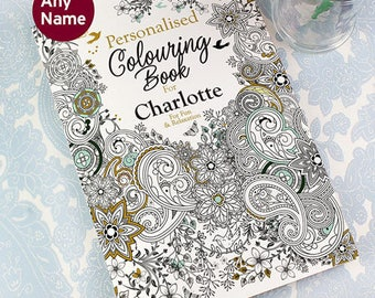 Personalised Botanical Adult Colouring Book - A4 28 Pages Colour Therapy - Anti Stress