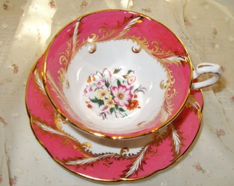 Pink and Gold Paragon Teacup and Saucer Fine Bone China England