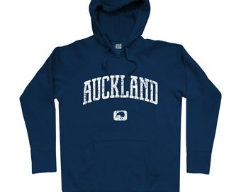 Auckland New Zealand Hoodie - Men S M L XL 2x 3x - Auckland Hoody, Sweatshirt, Kiwi, NZ - 4 Colors