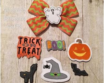 Set of 7 Halloween Felties Machine Embroidery design