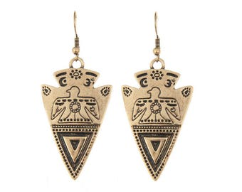 Inca Spirit golden earrings