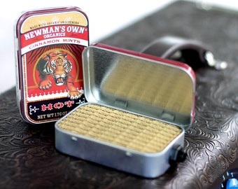 Portable Mint Tin Amp and Speaker for Electric Guitar- Tiger/Tweed handmade gifts for musicians